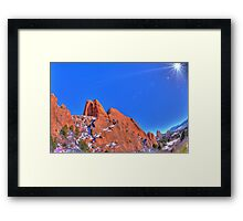 God Smiled Down Framed Print