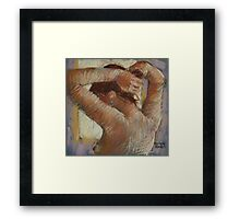 Doing her Hair Framed Print