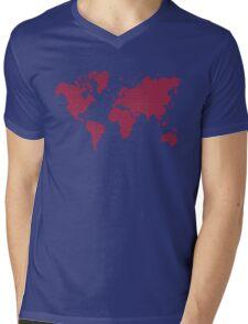 Love planet Mens V-Neck T-Shirt