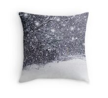 a snow storm Throw Pillow