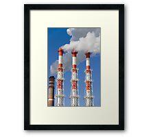 Power plant fumes Framed Print