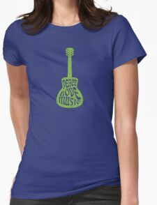 Peace, Love & Music Womens Fitted T-Shirt