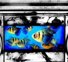 Fish in Stereo Sticker