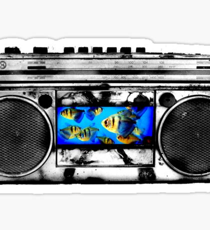 Fish in Stereo Sticker