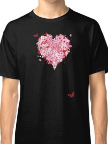 Floral heart for you Classic T-Shirt
