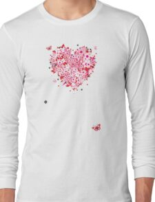 Floral heart for you Long Sleeve T-Shirt