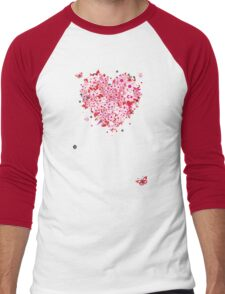 Floral heart for you Men's Baseball ¾ T-Shirt