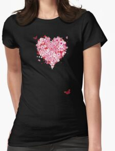 Floral heart for you Womens Fitted T-Shirt