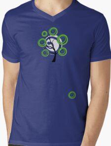 Green summer Mens V-Neck T-Shirt