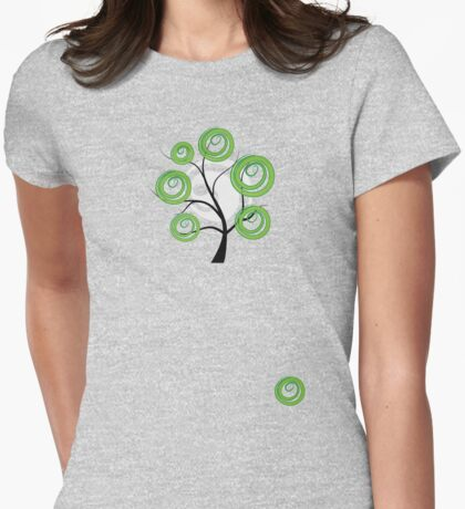 Green summer Womens Fitted T-Shirt