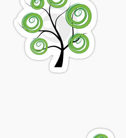 Green summer Sticker