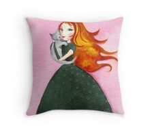 The Unbearable Softness of Lily Throw Pillow