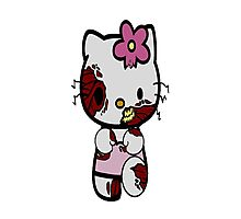 Zombie Hello kitty Photographic Print