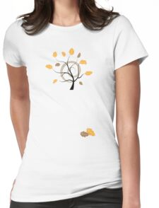Orange autumn Womens Fitted T-Shirt