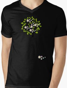 Floral spring Mens V-Neck T-Shirt