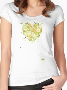 Floral heart for you Women's Fitted Scoop T-Shirt