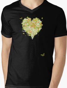 Floral heart for you Mens V-Neck T-Shirt