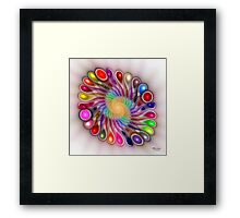 'Light Flame Abstract 310' Framed Print