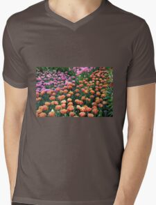 Pink and Orange Tulips - Keukenhof Gardens, Netherlands Mens V-Neck T-Shirt