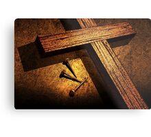 Jesus God Christianity Religion Crucifiction Nails Cross Metal Print