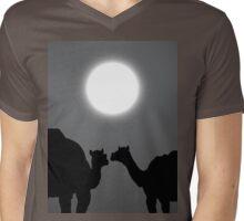 two camels at night Mens V-Neck T-Shirt