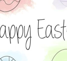Watercolour Easter Eggs Sticker