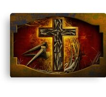 Jesus God Christianity Religion Crucifiction Nails and Cross Canvas Print