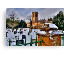 Church In Snow~ Canvas Print