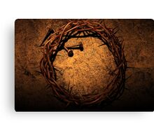 Jesus Crown of Thorns and Nails Canvas Print