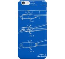 Helicopter Patent - Blueprint iPhone Case/Skin