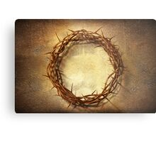Jesus God Christianity Religion Crucifiction Crown of Thorns Metal Print