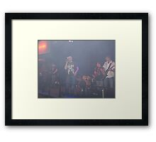 The Dude and The Band Framed Print