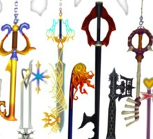Kingdom Hearts Keyblades Sticker
