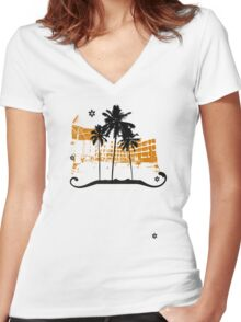 Summer holiday Women's Fitted V-Neck T-Shirt