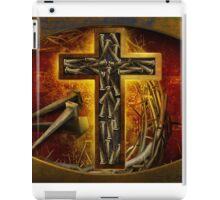 Jesus God Christianity Religion Crucifiction Nails and Cross iPad Case/Skin