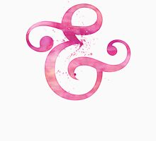 Ampersand Pink Watercolor Womens Fitted T-Shirt