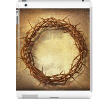 Jesus God Christianity Religion Crucifiction Crown of Thorns iPad Case/Skin