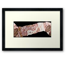 flexible geology Framed Print