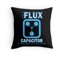 THE FLUX CAPACITOR Funny Geek Nerd Throw Pillow