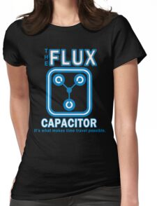 THE FLUX CAPACITOR Funny Geek Nerd Womens Fitted T-Shirt