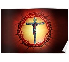 Jesus God Christianity Religion Crucifiction Poster