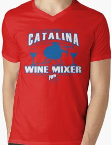 THE FUCKING CATALINA WINE MIXER POW Funny Geek Nerd Mens V-Neck T-Shirt