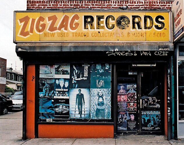 STORE FRONT: The Disappearing Face Of New York: ZIG ZAG Records by James and Karla Murray
