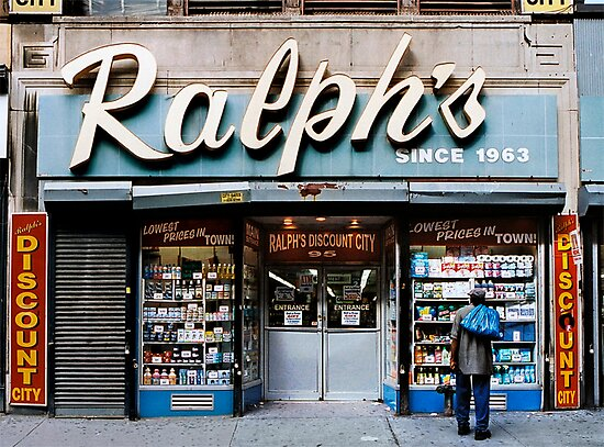 STORE FRONT: The Disappearing Face Of New York: RALPH'S Discount City by James and Karla Murray