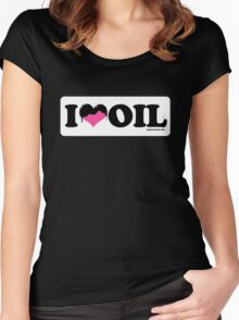 I Heart Oil Women's Fitted Scoop T-Shirt
