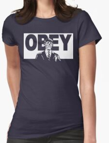 They Live Obey Rowdy Roddy Piper Cult Funny Geek Nerd Womens Fitted T-Shirt