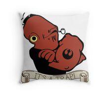 Ackbar the Sailor Man Throw Pillow
