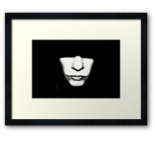 Shadow Face Framed Print