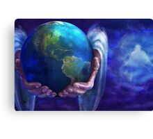 God The Whole World in His Hands Canvas Print