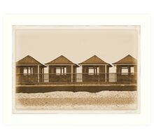 The Beach Huts Art Print